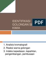 5. Identifikasi Golongan Senyawa Kimia