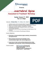 Craniovertebral Spine Registration 2010