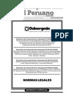 Resoluciones del Consejo Directivo de Osinergmin