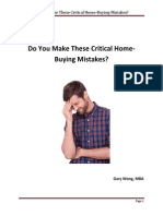 Do You Make These Critical Home-Buying Mistakes