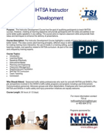 Instructor Development Informational Flyer