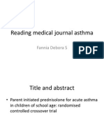Reading Medical Journal Asthma