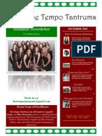 the tempo tantrums alumnae newsletter december 2014