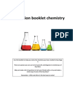 Y9 Chemistry Revision Booklet