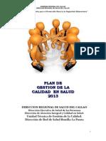 Plan de Gestion de La Calidad 2013
