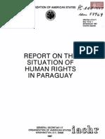 ONU Reporte de Derechos Humanos Paraguay 1987