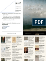 Penn Press 2015 Literature and Culture Brochure