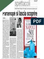 """Partenope si lascia scoprire. Agnese Palumbo e Maurizio Ponticello firmano """"Napoli in 501 luoghi"""" (Newton Compton). La recensione di Elena Galli sul Roma"""