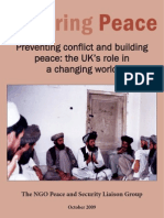 Securing Peace - Preventing Conflict and Building Peace