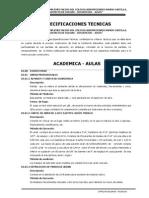 01 Especificaciones Tecnicas AREA ACADEMICA, AULAS ----