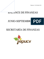 Primer Balance de Finanzas