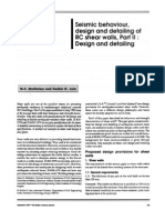 SeismicBehaviour Design&DetailingofShearWalls II