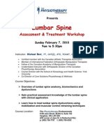 Lumbar Spine Registration 2010