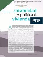 Sustentabilidad y política de vivienda en México