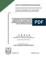 Tesis de Economía Con Análisis Paramétrico