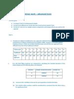 Statistics Seminar 9 Advanced Tests