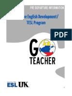 UK Go Teacher Pre-Departure Information (Cohort 6)