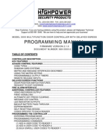 Highpower 3000 Programming Manual