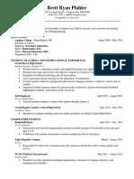 brett pfahler resume