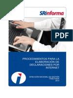 Procedimientos Para La Elaboración de Declaraciones Por Internet