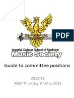 MusicSoc Pre AGM Committee Guide