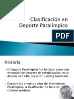 Clasificación en Deporte Paralímpico