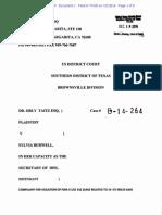 Taitz v. Burwell - Complaint in FOIA Suit - S.D.tex.