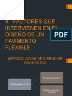 Factores Que Intervienen en El Diseã'o de Un Pavimento Flexible