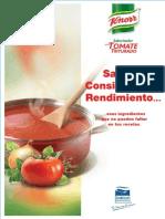 Recetario de Saborizador Para Tomate Triturado Knorr