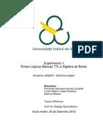 Relatório_Exp1_Portas Lógicas Básicas TTL e Álgebra de Boole_Eletrônica Digital_Quad4.2