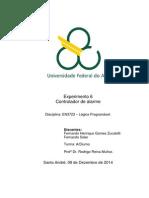 Relatório Exp6 Controlador de Alarme Lógica Programável Quad5.2