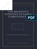 Hans-Joseph Klauck, The Religious Context of Early Christianity. a Guide to Graeco-roman Religions