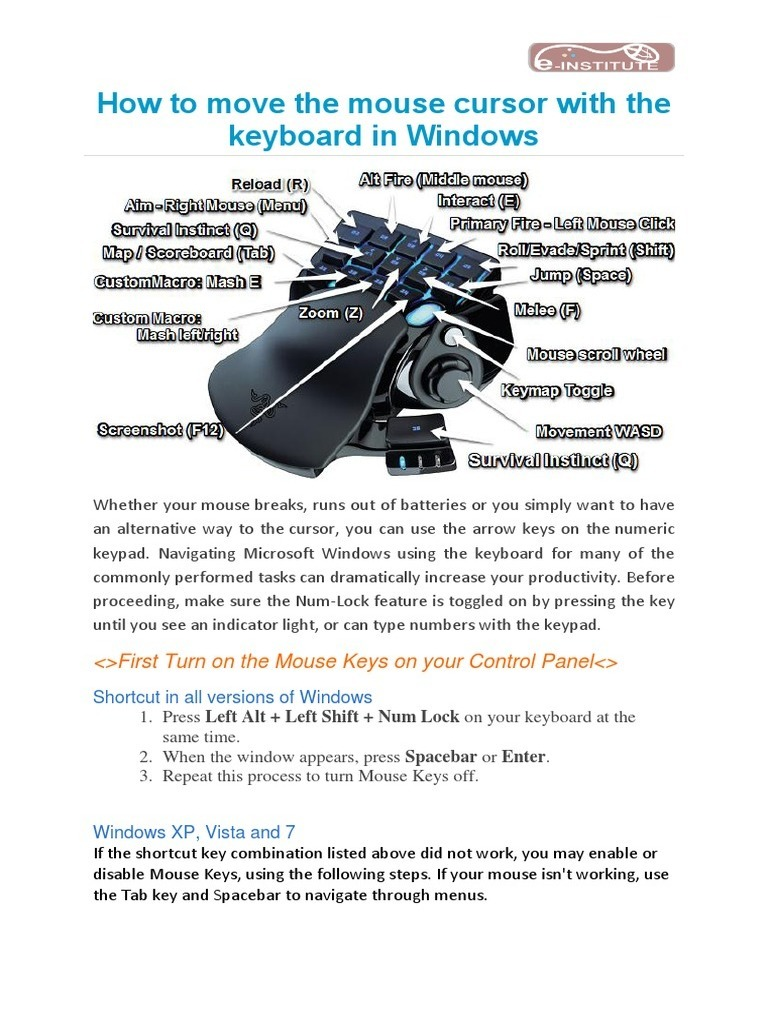 How to Move the Mouse Cursor With the Keyboard in Windows | Computer