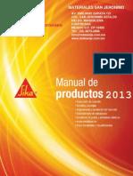 Manual de productos Sika 2013.pdf