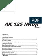 Manual Motocicleta 125 nkd