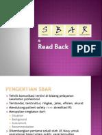 SBAR & Read Back