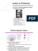 Introduction to Photonics lecture 13-14-15 16 Electromagnetic Optics(1)