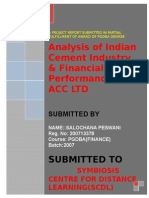 Finance Project on ACC CEMENT
