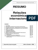 Relações Economicas Internacionais
