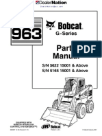 Bobcat 963 Skid Steer Loader Master Illustrated Parts List Manual Book G Series(Autosaved)