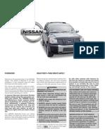2005 Nissan Armada Owners Manual