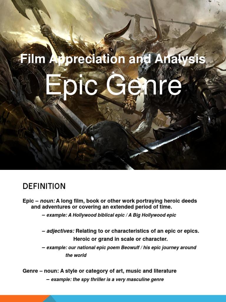 Epic Genre Hero Epic Poetry