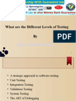 What Are the Different Levels of Testing