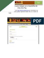 manual rpido para trabajar con el backoffice de only one pay