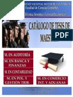 Titulos de Tesis Para Optar Grado Magister en San Marcos