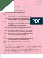 portfolio review student