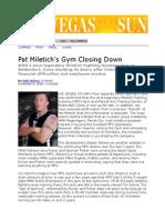 Pat Miletich Gym Closing
