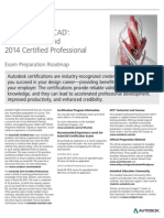 Autodesk Autocad 2014 Certification Exam Prep Roadmap Fall2013-Web