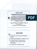 Cam & Jdr Admin Rules