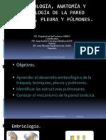 Embriología, Anatomia, Fisiologia de La Pared, Pleura y Pulmon NICO